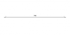 straight 74cm