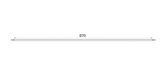 straight 87cm